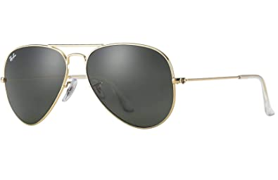 bca1b56e970 Image Unavailable. Image not available for. Color  Ray Ban RB3025 L0205 58  Gold Gray Green Large Aviator Sunglasses ...