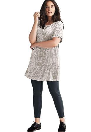 81f6f68ec00 Ellos Women s Plus Size Velour Tunic at Amazon Women s Clothing store
