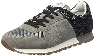 Pepe Jeans London Verona W Break G, Zapatillas para Mujer, Gris (Middle Grey), 41 EU