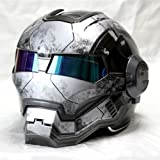 Iron Man motorcycle helmet ''Masei'' open face half helmet