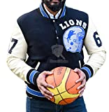 Beverly Hills Cop Axel Foley Detroit Lions Vintage Sports Letterman Jacket (M)