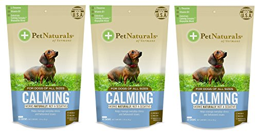 (Pet Naturals of Vermont - Calming for Dogs, Natural Behavior Support Formula, 30 Bite-Sized Chews (3-Pack))