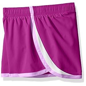 Hanes Big Girls' Sport Woven Performance Running Short (Pack of 2), Purple Cactus Flower/Black, M
