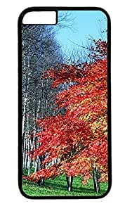 Beautiful Red Maple Tree Nice Thanksgiving Easter PC Black Case for Masterpiece Limited Design iphone 6 by Cases & Mousepads