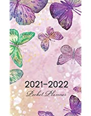 2021-2022 Pocket Planner: Watercolor Butterfly Cover | 2021-2022 Pocket Monthly Planner for 2 Year Plan | 24 Month Calendar Agenda Schedule Organizer | Two Year Appointment Book Small Size