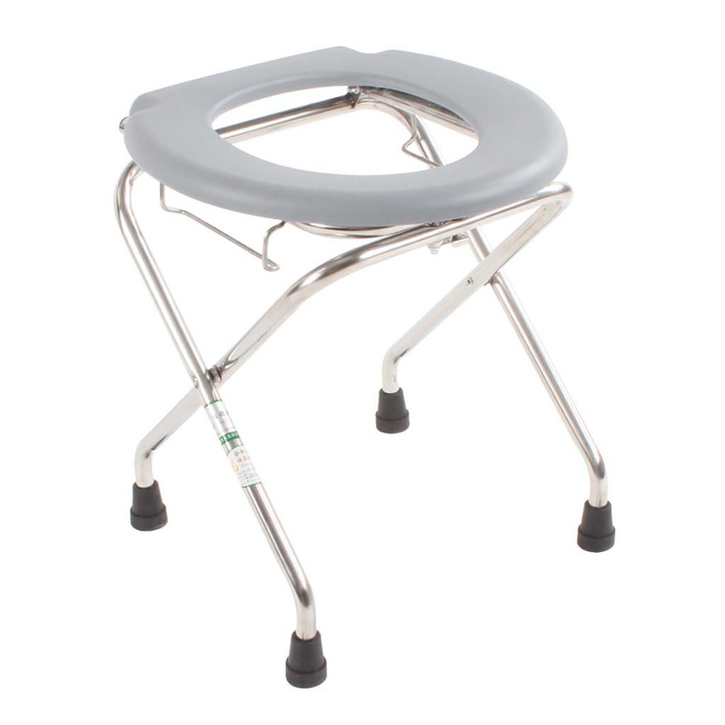 家庭の照明- 妊娠中の女性のための折り畳み式便器ステンレス鋼のトイレは、便座の便の折り畳み41 * 38 * 46cm B07DK8S77T