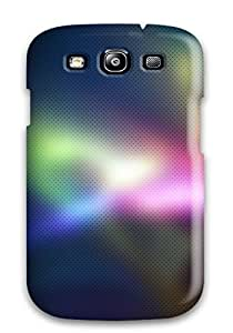 JudyRM AbVruSi422NMpPC Protective Case For Galaxy S3(blurry Colorful Strands)