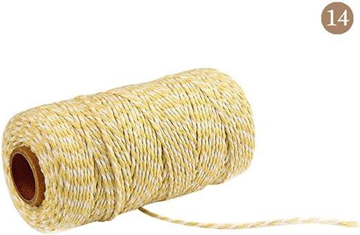 AOM 100M Dos Colores Panaderos de algodón Cuerda de Hilo ...
