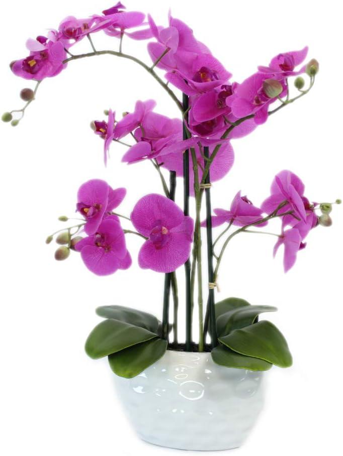 6 edle Deko Rosen Köpfe weiß 11cm Künstliche Kunst Seiden Blumen Blüte Floristik