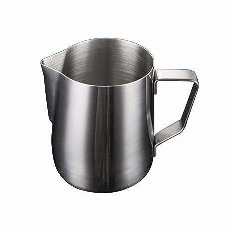 Ogquaton Jarra de Leche de 350 ml Jarra de Leche de Acero Inoxidable Jarra de Espuma sin Leche Jarra de Espuma Texturizado de café Latte Art Cup ...