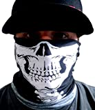 One Dozen-12 pieces -Skull Half Face Shield Tubular Bandana Mask With Skeleton Vertebrae Neck Bones Motorcycle Rider Face Protection Custom Made By My Skull Store