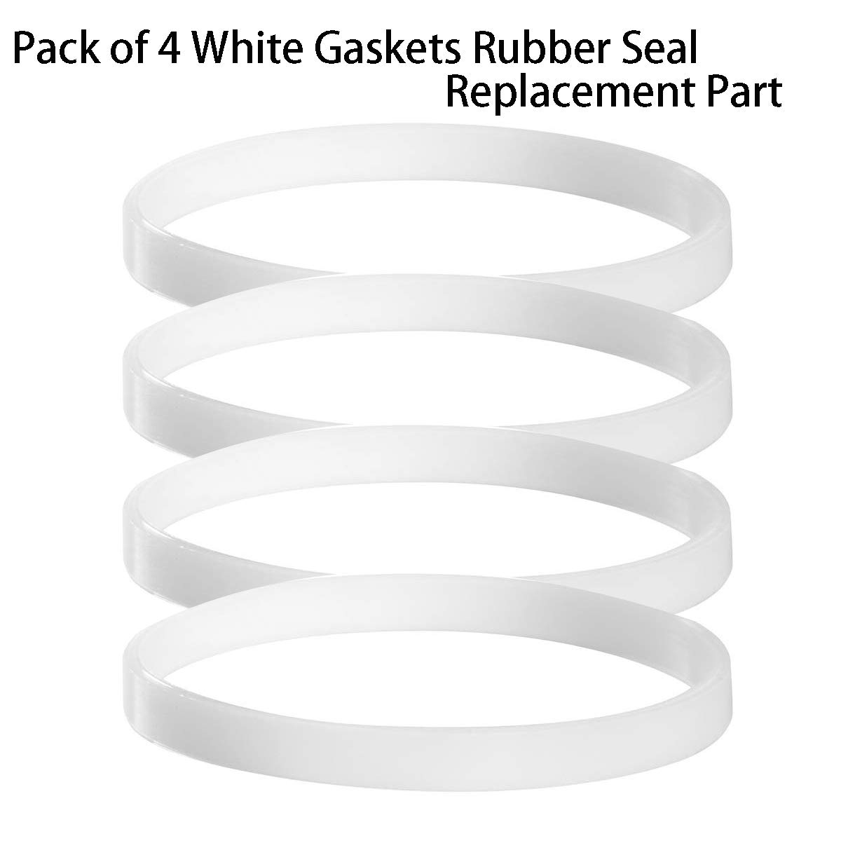 Pack of 4 White Gaskets Rubber Sealing O-Ring Replacement Part for Nutri Ninja Blenders 900W BL450-70, BL451-70, BL454-70, BL455-70 1000W BL480-70, BL480W-70, BL481-70, BL482-70, BL483-70,BL484-70