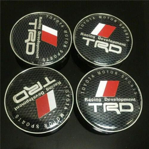 Hub Centre Cap Logo Badges Black 4x60mm Wheel Alloy Center Caps for TRD