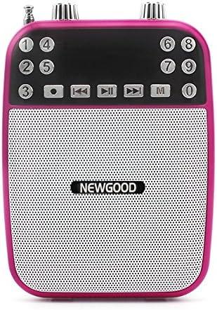 newgood portátil con CABLE amplificador de la voz amplificador de altavoces recargable batería de corriente con USB TF tarjeta Mp3 reproductor de ...