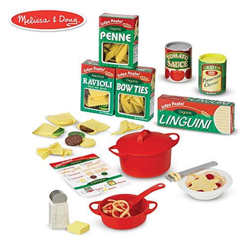 "Melissa & Doug Prepare & Serve Pasta (Pretend Play, Felt Kitchen Set, Easy to Use, 50+ Piece Set, 10"" H x 9"" W x 3"" L)"
