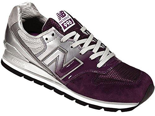 New Balance Men's Cm996 Classic Running Shoe,White/Purple,9.5 D