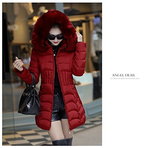 Hooded Women Coat Fashion Color Cotton Wine Parka Pure Womens Winter Casual Comfortable Slim Jersh Jacket Warm Long Trench Coat Outerwear awgAA