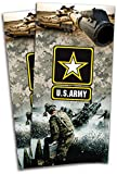 US Army Cornhole Bag Toss Wraps Set - 3M High Gloss Vinyl with Air Release - Laminated - 24x48'' - Set of 2