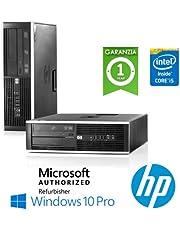 """PC HP Compaq 8200 Elite Core i5-2400 3.1GHz 4Gb Ram 250Gb DVD-RW SFF Windows 10 Professional con LICENZA NUOVA ORIGINALE MAR """"Microsoft Authorized Refurbisher""""(Ricondizionato Certificato)"""