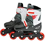 SK8 Zone Boys Red Roller Blades Inline Skates Adjustable Size Childrens Kids Pro Skating New (Small 9-12 (27-30 EU))