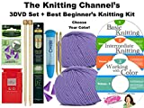 3 DVD Set + The Best Beginner's Knitting Kit (Denim)