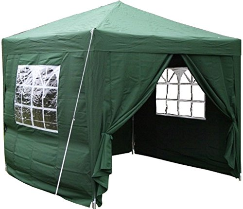 Airwave 2.5x2.5mtr Pop Up Waterproof Gazebo Green with 2 WindBars and 4 Leg Weight Bags (8 Colours Available)