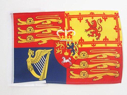 UNITED KINGDOM ROYAL STANDARD FLAG 18'' x 12'' cords - UK ROYAL STANDARD SMALL FLAGS 30 x 45cm - BANNER 18x12 in - AZ FLAG