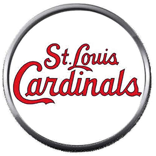 (St Louis Cardinals in Red MLB Baseball Logo 18MM - 20MM Snap Jewelry Charm)