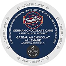 Timothy`s German Chocolate Cake Single Serve K-Cup pods for Keurig brewers, 24 Count