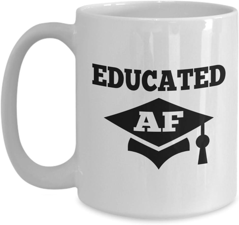 Fan Shop Educated AF Mug Cute Coffee Tea Cup Unique Novelty ...