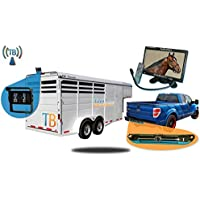 Tadibrothers 7 Inch Wireless Horse Trailer Rear View System with 2 Cameras (1 for horse trailer and 1 for your truck)