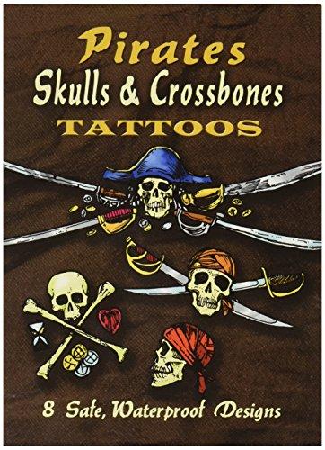 Dover Publications-Pirates Skulls & Crossbones Tattoos -
