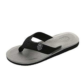 online store 98899 ce581 Sommer Schuhe Xinan Herren Flip Flops Pantoffeln Strandsandalen Indoor &  Outdoor Casual Shoes (EU:43=CN:44, Grau)