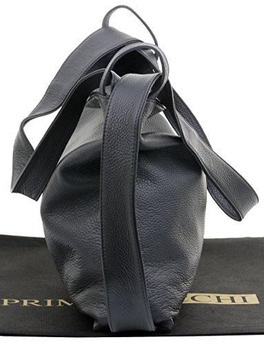 bandoulière à protection ® dos texturé sac Mesdames italiennes incudes Pack Sac Foncé sacs de en Rucksac rangement Sacchi marque à cuir Gris Primo de de Grab zqROvv