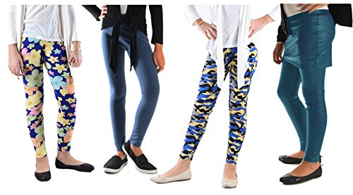 Dinamit Jeans Girls 5-14 Years,4 Pack Of Mix Prints, Pant Skirts and Wet Look Leggings Combo - Outlets 575