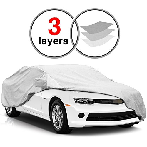 Custom Fit Chevy Camaro Car Cover for 2010-2016, KAKIT 3 Layers Scratch Proof Waterproof Windproof Dustproof Camaro Cover ()