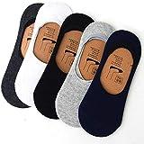 Costafrey Unisex Silicon cotton Anti-slip Loafer Socks (Pack of 5) (Multi Colour)