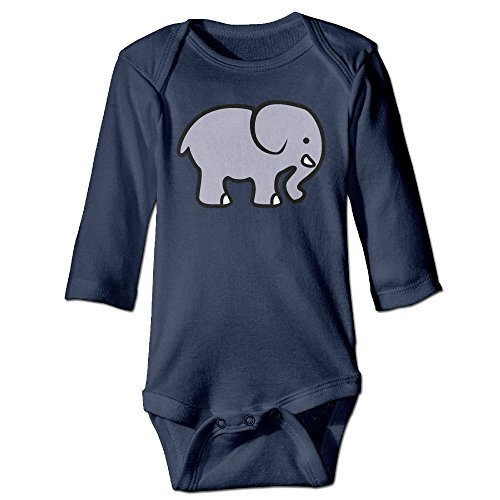 Itongquy The Elephant Fashion Newborn Baby Suit Climb(Long Sleeve) 6 M Navy