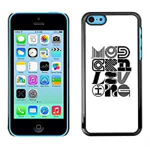 Shell-Star Arte & diseño plástico duro Fundas Cover Cubre Hard Case Cover para Apple iPhone 5C ( Pop Art Modern Design Calligraphy )