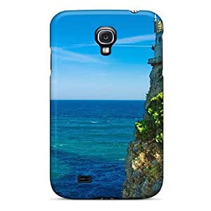 Premium Castle On The Sea Back Cover Snap On Case For Galaxy S4