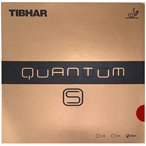 Tibhar Quantum -S Table Tennis Rubber , Red , Max by Tibhar
