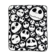 Nightmare Before Christmas 'Skulls' Super Plush Throw, 46 by 60-Inch