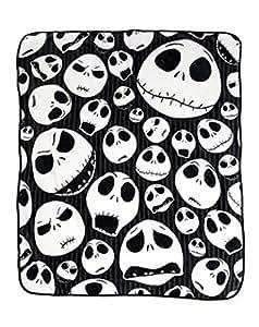 Nightmare Before Christmas 'Skulls' Super Plush Throw, 46 by 60-Inch
