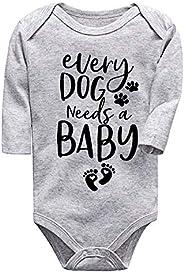 Dog Need Baby Newborn Baby Boy Clothes Unisex Funny Baby Onesies Daddy Boy Mom Shirt Onesies for Baby Girl