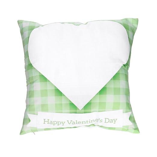 ronamick Happy San Valentín almohada caso Sweet Love Square ...