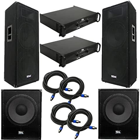 Seismic Audio - FL-155PPKG2 - Pair of Premium Dual 15