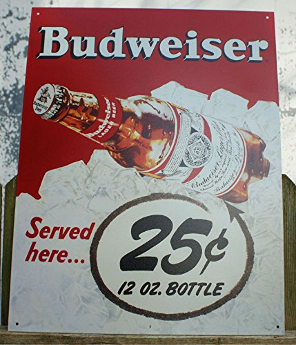 (Metal Tin Sign - Budweiser 25)