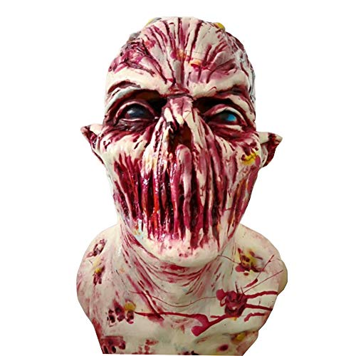 (Dikley Halloween Mask Horror Scary Bloody Head Face Masks for Halloween Cosplay Haunted)