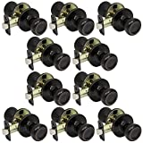 10 Pack of Pro-Grade Classic Passage Hallway Closet Door Knobs, Oil Rubbed Bronze