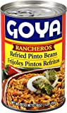 Goya Foods Refried Pinto Beans Rancheros, 16 Ounce (Pack of 12)